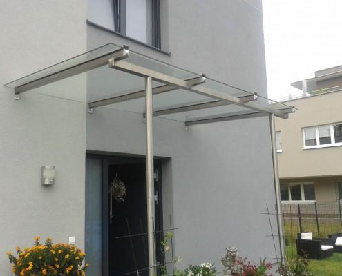 Moderne Glasüberdachung aus dem Hause Hillerzeder
