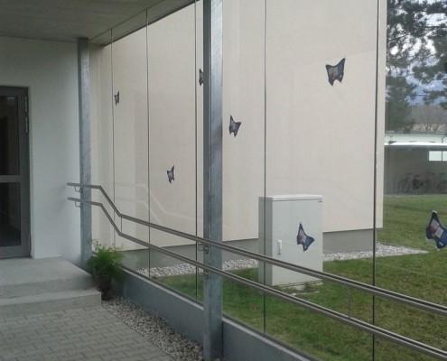Glas- und Stahlwand aus dem Hause Hillerzeder