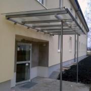 Eingang Überdachung Metall mit Glas